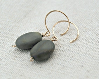 suki... gold jasper earrings / red creek jasper & 14k gold filled earrings
