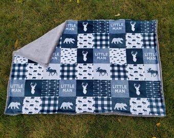 Woodland Blanket-Deer Blanket-Buck Blanket-Little Man Blanket-Woodland Nursery-Baby Shower Gift