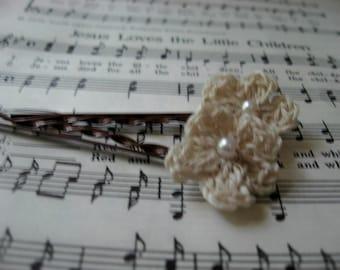 Crochet Flower Hair Pins   Hair Accessories