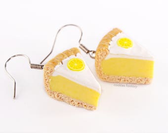 Lemon meringue pie Stud Earrings
