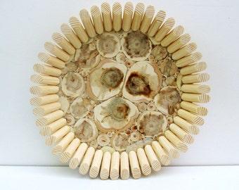 Juniper Wood Platter, Natural Handmade Bowl, Wooden Dish, Rustic Home Decor, Wooden Kitchen Utensil, Untreated Wood