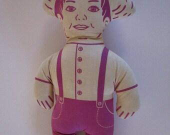Vintage Farmer Pillow Doll.