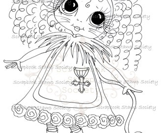 DESCARGA instantánea Besties de Oz Digital Digi sellos grandes ojos IMG645 Digi de muñecas de cabeza grande por Sherri Baldy