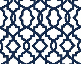 Premier Navy Blue Sheffield Pillow Cover. Navy Blue Lattice Cushion Cover. Blue Pillow.  Lattice Pillow Cover.