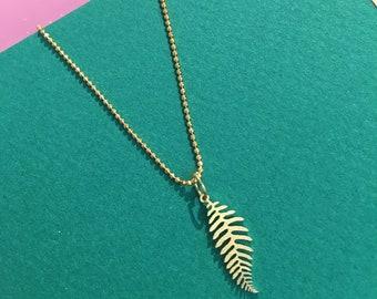 Fern golden necklace
