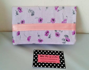 Protects checkbook mauve and purple and Pink Ribbon