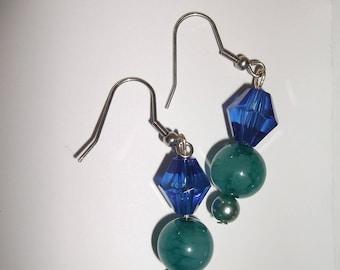 earring top blue water