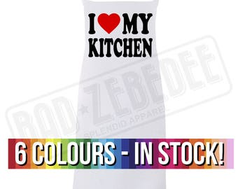 I Heart My Kitchen Apron | Funny I Love My Kitchen Chef Cooking Baking Gift