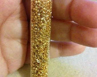 24kt Gold Plated 11/0 Miyuki Delica Beads 11 Grams DB0031