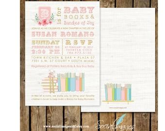 BooK BABY Shower / Book Themed Baby Shower / Book Shower / Storybook Shower /  INVITATION Printed or Digital/Printable File, 2665