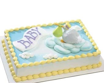 Decopac Stork Welcome Baby cake topper