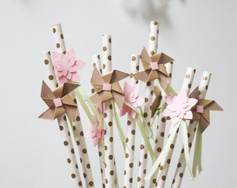 Whimsical Party Straws - Set of 10