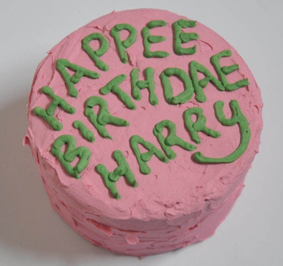 Harry Potter Hagrid Birthday Cake Trinket Jewellery Box