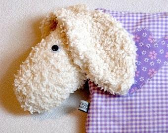 Anpassbare violett Schaf geformt Kirschkernkissen