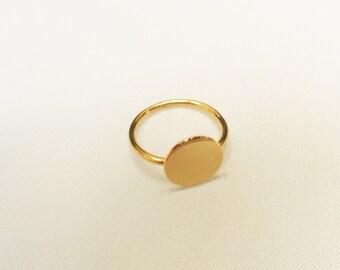 Disc Ring - Disk Ring - 14k Gold Filled