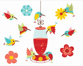 Clipart - Humming Birds / Spring birds - Digital Clip Art (Instant Download)