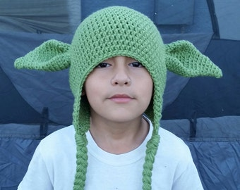Crochet Yoda Hat, Starwars Inspired Hat, Boys Hat