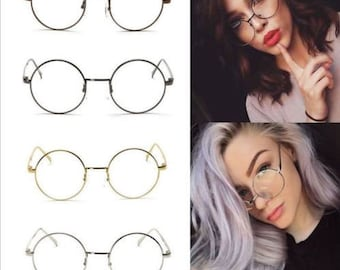 Classic Round-Eye Clear Glasses