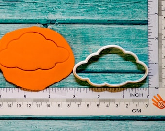 Cloud cookie cutter 3D Printed Select your size