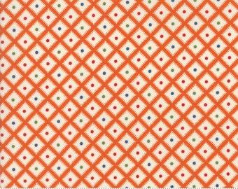 Hop, Skip, and a Jump!, 21708-11 orange geometric, by American Jane for moda fabrics
