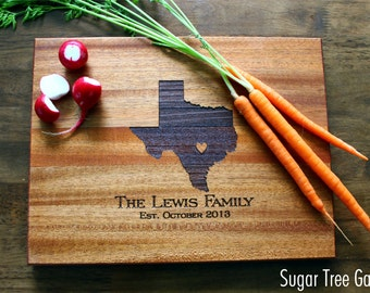 Mens Gift, Husband Gift, Wife to Husband Gift, Gift For Her, Personalized Cutting Board, Brother Gift, Christmas Gift, State Cutting Board