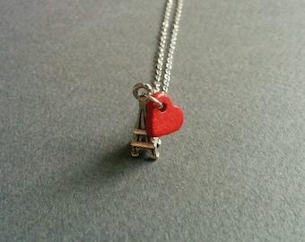 Eiffel tower. // Love in Paris. Necklace.