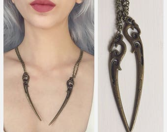 Daenerys Targaryen Carved Dragon Claw Necklace - Khaleesi, dragon tooth, horn, cosplay, costume, game of thrones, mysha, stormborn, dothraki