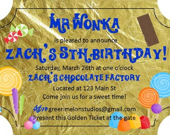 Willy wonka invite Etsy