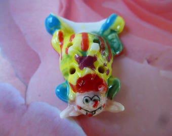 button out of porcelain clown Acrobat series circus bean for cake