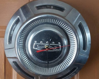 Vintage Ford Truck Hubcap Clock