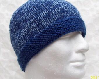 KNITTING PATTERN TED Mans Beanie/Handknit Hat Pattern/Beanie Pattern/Easy Hat Pattern/Simple Beanie Hat/Knit Flat Hat Pattern/Gift for Him