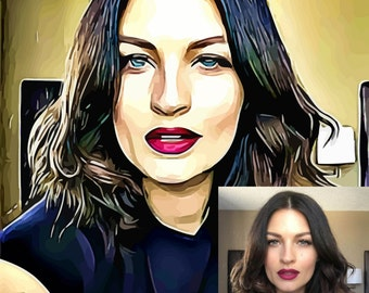 Custom Cartoon Portrait from your Photo.Digital Cartoon Portrait Drawing & Illustration