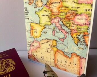 Europe map card, Europe gap year card, interrail trip, bon voyage,  card for travellers, map card, student travel card, European trip
