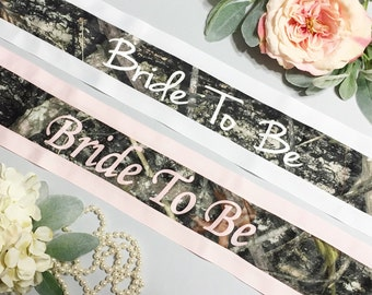 camo bachelorette sash camo bridal shower sash camo sash gift for bride