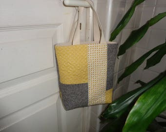 Small patchwork tote bag