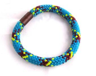 Vintage Neon Rope Bracelet