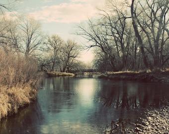Cache La Poudre River Fort Collins Colorado Color Photograph Home Decor Gift
