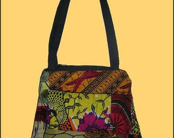 African fabric patchwork purse