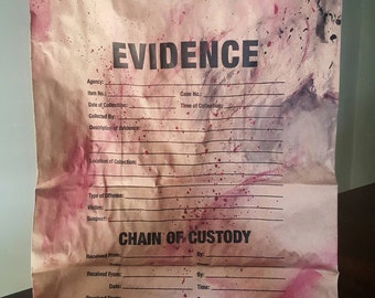 Customized Evidence Bags