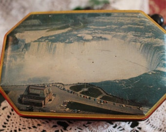 Niagara Falls Souvenir Candy Tin - Blue Bird Confectionery, Harry Vincent Limited, Hunnington, Worchestershire England