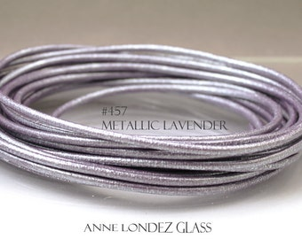 "8"" Metallic leather cord - 3mm Purple - leather cord - 3 mm metallic cord - purple leather lace"