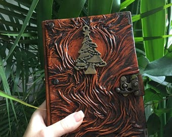 New Year's Journal, Leather Journal, Leather Notebook, Travel Journal, Steampunk Journal, School Journal, Gift Idea