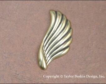 Ailes d'ange ou des composants de boucle d'oreille en laiton poli vieilli (article 1406-grand AG) - 6 pièces