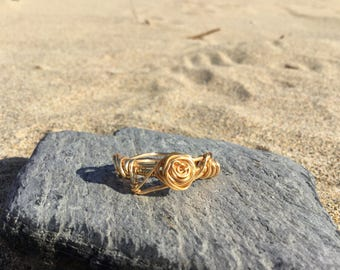 Size R wire wrapped ring. Can be made to order