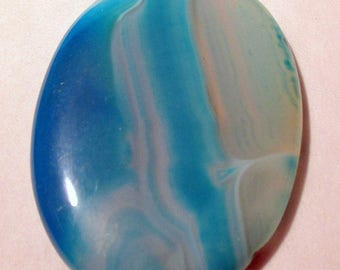 Agate - blue tinted - undrilled - ref5383