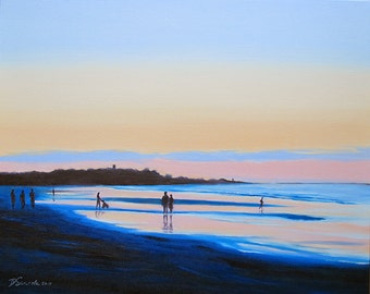 GICLEE Fine Art Reproductions on 8.5x11 PAPER - Nantasket Beach by Daina Scarola (New England, Massachusetts, Beach, Dusk)