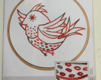 "DMC embroidery kit ""Free Spirit"" little birds series hoop needle 6-strand printed 28 count evenweave fabric Nr. BL1153/74 Level easy"
