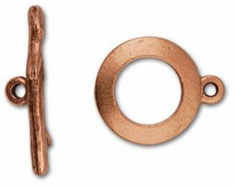 Zweig Toggle Verschluss - Antik Kupfer oder Antik Silber - Zweig oder Ast-Toggle-Set