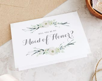 Will you be my Maid of Honor card, Maid of Honor printable cards, Maid of Honour, Bridesmaid Card