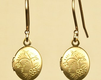 Vintage Locket Earrings